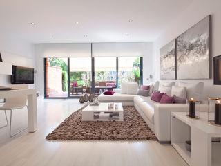 Home Deco Decoración Modern Oturma Odası Deri Beyaz