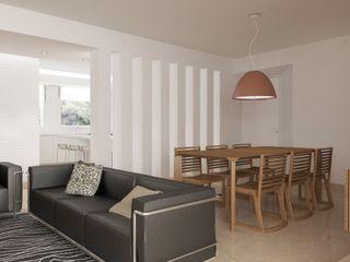 Lomas de La Alameda RRA Arquitectura Salas de estilo minimalista
