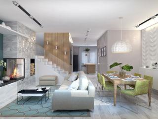 1+1 studio Modern living room