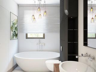 Finchstudio Ванная комната в скандинавском стиле Белый