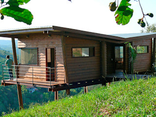 Cabana Arquitetos Rustic style house Wood