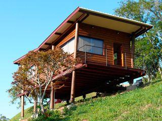 Cabana Arquitetos Casas de estilo rústico Madera