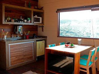 Cabana Arquitetos Cucina in stile rustico Legno