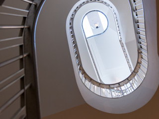 Bedford Gardens House, London Nash Baker Architects Ltd 모던스타일 복도, 현관 & 계단 돌 화이트