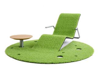 藤村デザインスタジオ / FUJIMURA DESIGIN STUDIO Balconies, verandas & terraces Furniture Synthetic Green