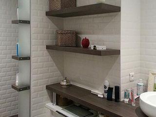 aménagement d'un appartement (Lyon, Rhône) atacama architecture Salle de bain moderne