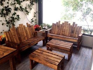 Biogibson Balconies, verandas & terraces Furniture Wood