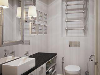 Квартира в ЖК Скай Форт MARION STUDIO Ванная комната в эклектичном стиле Многоцветный