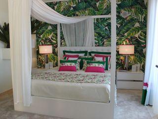 Andreia Louraço - Designer de Interiores (Email: andreialouraco@gmail.com) Cuartos de estilo tropical Textil Verde