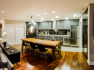 cunha² arquitetura Minimalist dining room Solid Wood