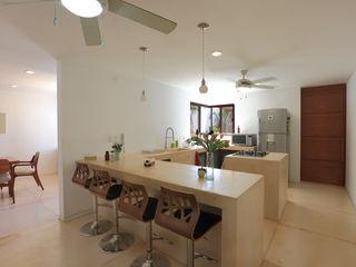 FGO Arquitectura Tropikal Mutfak Doğal Elyaf Bej