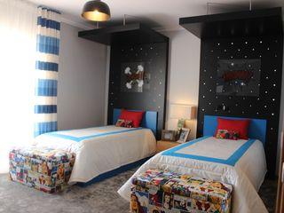 Andreia Louraço - Designer de Interiores (Email: andreialouraco@gmail.com) Cuartos infantiles de estilo moderno Derivados de madera Azul