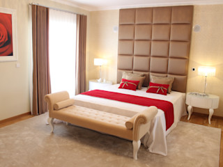 Andreia Louraço - Designer de Interiores (Email: andreialouraco@gmail.com) Cuartos de estilo clásico Madera Blanco