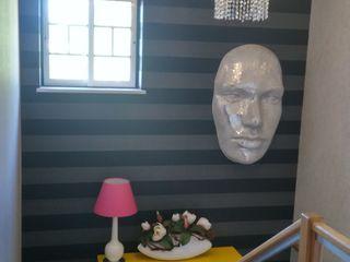 Andreia Louraço - Designer de Interiores (Email: andreialouraco@gmail.com) Pasillos, vestíbulos y escaleras de estilo moderno Madera Amarillo