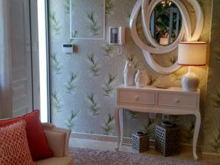 Andreia Louraço - Designer de Interiores (Email: andreialouraco@gmail.com) Pasillos, vestíbulos y escaleras de estilo moderno Madera Naranja