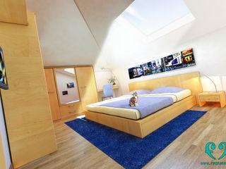 Damiano Ferrando | Architectural Visualization | Modern style bedroom