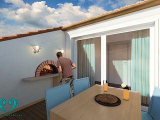 Damiano Ferrando | Architectural Visualization | Modern style balcony, porch & terrace