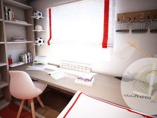 Andreia Louraço - Designer de Interiores (Email: andreialouraco@gmail.com) Cuartos infantiles de estilo moderno Blanco