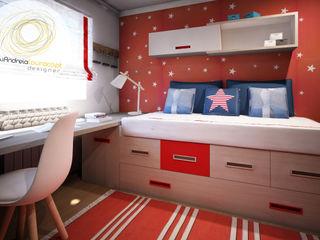 Andreia Louraço - Designer de Interiores (Email: andreialouraco@gmail.com) Cuartos infantiles de estilo moderno Rojo