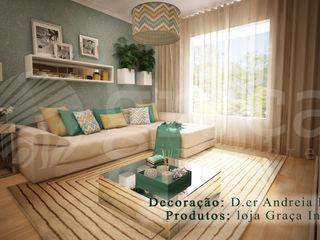 Andreia Louraço - Designer de Interiores (Email: andreialouraco@gmail.com) Salas de estilo moderno Multicolor