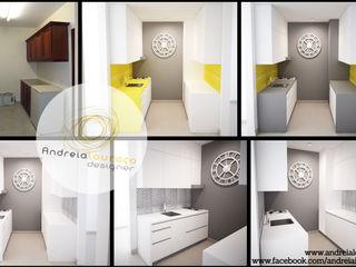 Andreia Louraço - Designer de Interiores (Email: andreialouraco@gmail.com) Cocinas de estilo moderno Cerámico Gris