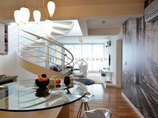 FORUM PUERTO NORTE Barsante Disegno Pasillos, vestíbulos y escaleras modernos