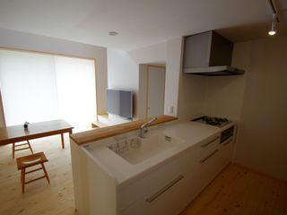 取手市O邸新築工事 K+Yアトリエ一級建築士事務所 北欧デザインの キッチン