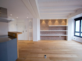 Bocetto Interiorismo y Construcción Salas de estilo industrial
