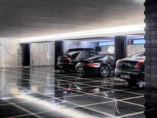 Timeless with a twist Viterbo Interior design Garagens e arrecadações ecléticas