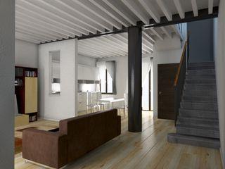 Restauro appartamento A.D. RBM ASSOCIATI Soggiorno moderno