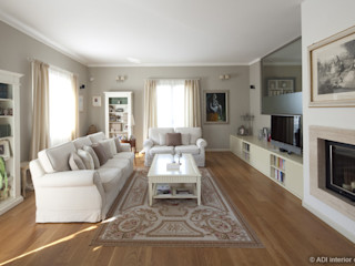 Lavori ADI ARREDAMENTI Living room Solid Wood Beige