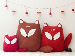 Une famille de renards... Handmade of Passion Chambre d'enfantsAccessoires & décorations Laine Rouge
