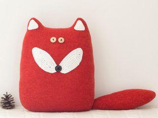 Une famille de renards... Handmade of Passion Chambre d'enfantsAccessoires & décorations Laine Orange
