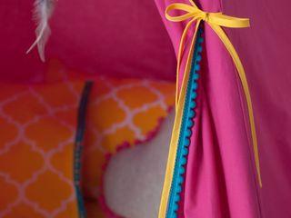 Wigwam Tipi - Décoration unique... Handmade of Passion Chambre d'enfantsAccessoires & décorations Laine Rose