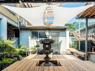 KYOTO ART HOSTEL kumagusuku Ausgefallener Balkon, Veranda & Terrasse