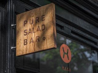 Haka Pure Salad Bar Design Studio Nu Industriële gastronomie Massief hout Zwart