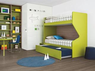 NIDI MOOVING : idee salvaspazio ROOM#6 Nidi Stanza dei bambiniArmadi & Cassettiere Verde
