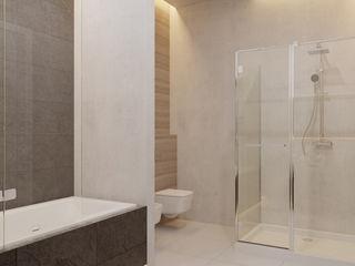Anna Clark Interiors Industrial style bathroom