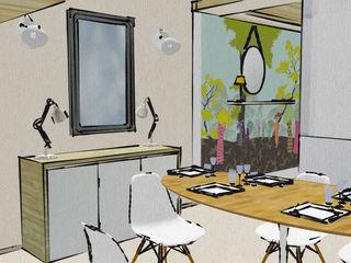 Loft ambiance scandinave et coloré Pièces d'identité Salle à manger scandinave