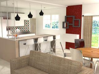 Décoration intérieur et réaménagement Pièces d'identité Cuisine moderne Beige