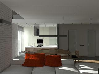 CHM architect Ruang Keluarga Gaya Industrial