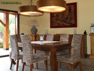 RIBA MASSANELL S.L. Mediterranean style dining room Wood