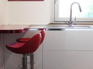 Cucina Cristallo OGARREDO Cucina moderna Rosso