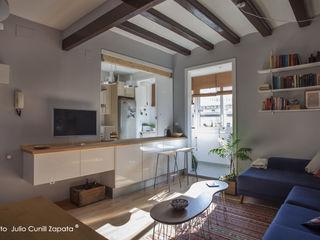 Reforma de comedor y cocina en piso del barrio de Gràcia (Barcelona) mobla manufactured architecture scp
