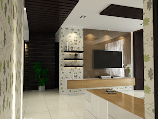 Space Interface Гостиная в стиле модерн
