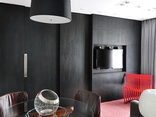 Mario Catani - Arquitetura e Decoração Salon minimaliste Bois Noir