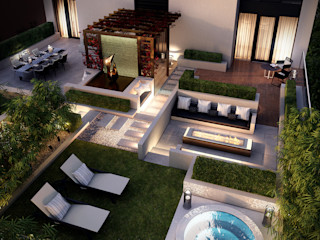 The Cricketers Folio Design Modern Terrace