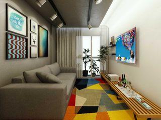 fpr Studio Industrial style living room