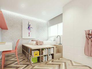 fpr Studio Scandinavian style bedroom White