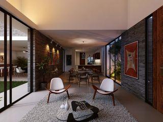 TNGNT arquitectos Ruang Keluarga Modern